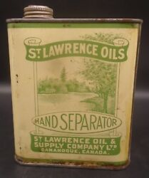 Rare 1940's Vintage St. Lawrence Hand Separator Oil Imperial Quart Can