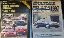 Chiltons Auto And Inport Auto Repair Manuals 1993 To 1997 Usa And Canada 7919 And 7920