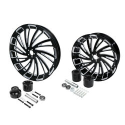 21 Front 18'' Rear Wheel Rim W/ Hub Fit For Harley Touring Road Glide 2008-2021