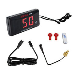 Motorcycle Thermomete Instruments Led Water Temp Temperature Digital Display New