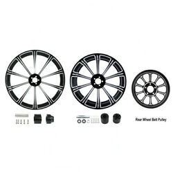21 Front 18'' Rear Wheel Rim W/ Hub Belt Pulley Fit For Harley Touring 2008-21
