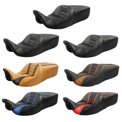 7 Styles Rider Passenger Pu Leather Seat Fit For Harley Touring Models 2009-2021
