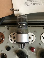 Osram/gec 6sn7/b65 Clear Glass Metal Base Cup Getter Good Testing