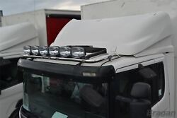 To Fit Pre 09 Scania P G R Series Low Day Cab Roof Bar + Led Spots + Flush Led