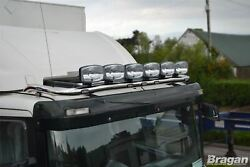 To Fit Scania 4 Series Low Day Cab Steel Roof Bar + Jumbo Led Spots + Flush Led