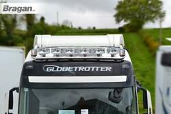 To Fit 2013+ Daf Xf 106 Space Cab Roof Light Bar + Jumbo Spots + Clear Beacons