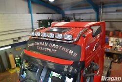 To Fit Volvo Fh Series 2 And 3 Globetrotter Xl Roof Bar + Jumbo Spots + Flush Led