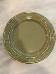 Woven Traditions Luncheon Set Of 3 Salad Plate 9 Sage Green Longaberger Pottery