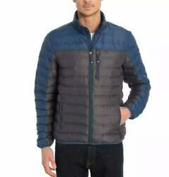 Nwt Gerry Menand039s Lightweight Down Jacket Slate / Naval Blue Size S