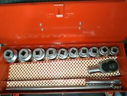 13 Piece Snap-on 3/4 Socket Wrench Set - Like New