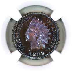 1888 Pf65+ Bn Ngc Indian Head Penny Premium Quality Proof Example