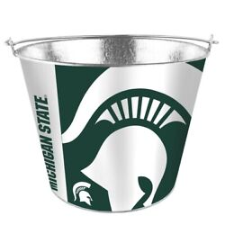 Ncaa Michigan State Spartans 5 Quart Metal Bucket Hype Pail Bbq Drinks Party