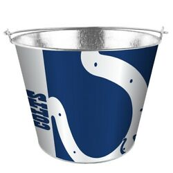 Nfl Indianapolis Colts 5 Quart Metal Bucket Hype Pail Bbq Drinks Party