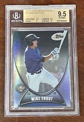 2011 Mike Trout E-topps Etopps 18 Bgs 9.5 W/10 Angels 153/799