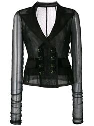 Dolce And Gabbana Rare Sold Out Ss 2017 Mesh Corset Bustier Black Jacket Nwt Sz 40