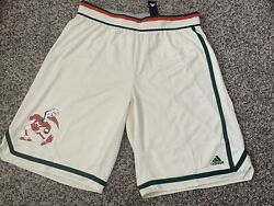 Authentic Adidas Game Miami Hurricanes Basketball Team Issued Shorts Sz.4xl+4