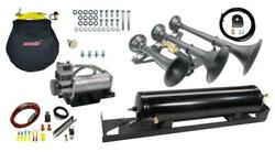 Bolt-on 734 Triple Train Horn System With Spare Tire Delete Horn Mount