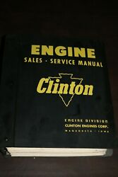 1979 Clinton Small Engine Parts And Service Repair Shop Manual W/binder Huge
