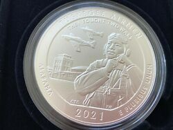 2021-p America The Beautiful Tuskegee Airmen Historic Site 5 Ounce Silver Coin