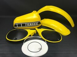 Yamaha Yz 250 /400 D E Plastic Set - Guards Tank And Number Plate Kit New Yellow