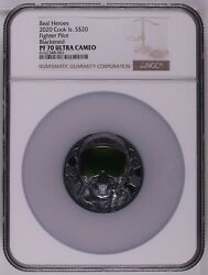 Ngc Pf70 2020 Cook Islands 3oz Black Proof Fighter Pilot Silver Coin