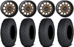 System 3 St-5 Bronze 15 Wheels 35 Coyote Tires Kawasaki Mule Pro Fxt