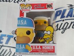 Tone Rodriguez Signed Sketched Usa Homer Funko Pop Beckett Bas Coa The Simpsons