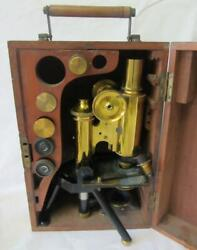 Rare Antique Brass James Swift And Son London Discovery Microscope C1901-10