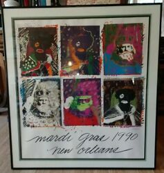 1990 Mardi Gras Kings Of Carnival Poster By Richard C. Thomas Signed 2428/5000