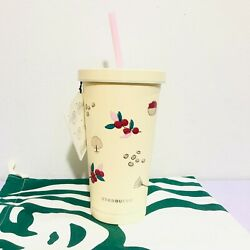 Starbucks Stainless Tumbler Cold Cup 18 Oz.coffee Story Coffee Beans