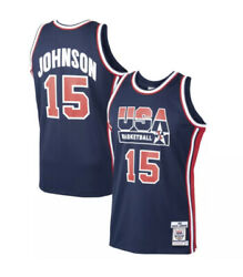 300 Nwt Mitchell And Ness Magic Johnson 1992 Usa Dream Team Authentic Jersey 40 M