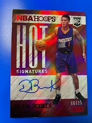 2015-16 Hoops Devin Booker Hot Signatures Ruby Red Auto Autograph Rookie Rc /25