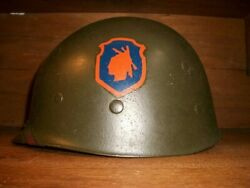 Ww2 U.s Army 98th Infantry Division Marked Iroquois With Helmet Liner