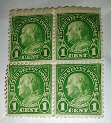 George Washington 1 Cent Rare Green Stamp Unused 4 Original Collectible Stamps