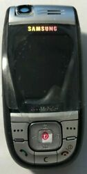 New Samsung Sgh E865 T-mobile Blue Cell Phone Fast Ship Vintage Test Item