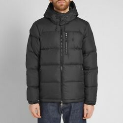 Polo El Cap Hooded Down Fill Puffer Jacket Black New W/tags Menandrsquos L