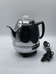 Vintage General Electric Ge Percolator Chrome Pot Belly Automatic Coffee Maker