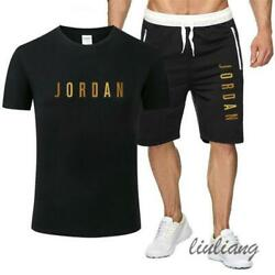 New Summer Michael Jordan 23 Casual Menand039s Sportswear Suits T-shirts And Shorts ✅✅✅