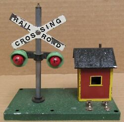American Flyer No. 759 Railroad Crossing W/bell Tested S-gauge