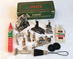 Singer Sewing Machine Attachments Accessories For 201 15-91 66 99 221 Set B