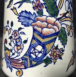 Rare 19th Century Antique Gien France Faience Majolica Aesthetic Footed Vase