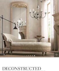 Restoration Hardware 19th C. French Empire Fainting Chaise Couch Sofa Bed