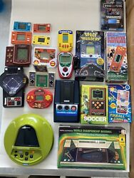 19 Vintage Electronic Handheld Games Some Working/some For Parts/repairs