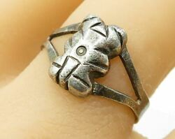 925 Sterling Silver - Vintage Tribal Statue Detail Band Ring Sz 9.5 - R3453
