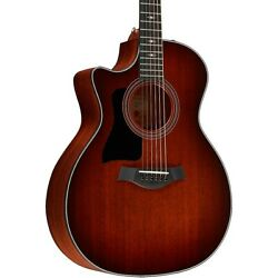 Taylor 324ce-lh V-class Grand Auditorium Left-handed A/e Guitar Shaded Edge Brst