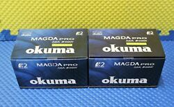 Okuma Magda Pro 2bb Line Counter Trolling Reel With Auto Trip Ma 30dx 2-pack