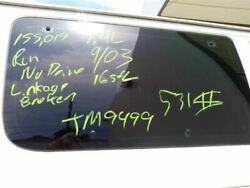 Driver Quarter Glass Front Privacy Tint Fits 98-14 Ford E150 Van 5502788