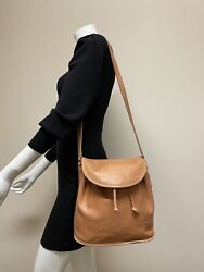 Vintage Coach Bucket Drawstring Sling Crossbody Brown Leather Bag MADE IN USA $82.00
