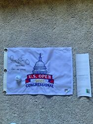 Rory Mcilroy Signed Auto 2011 Us Open Pin Flag Congressional Uda 17/100 + Ball
