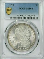 1893 1 Morgan Silver Dollar Pcgs Ms 63 Witter Coin